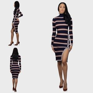 Dresses & Skirts - Fitted midi sweater dress